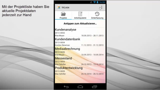 Tutorial: InLoox Mobile App für Android